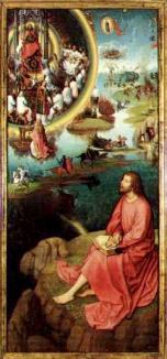 San Juan escribiendo el Apocalipsis - Hans Memling - Bruselas